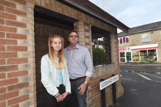 This Is Wiltshire: Andrew Mundy and his 13-year-old daughter Freya. She was stranded when the driver of a bus she was travelling on turfed off his passengers because he had gone over his hours. Picture by Diane Vose