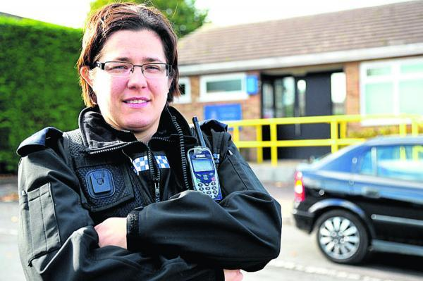 This Is Wiltshire: n Highworth community beat manager PC Sandra Higgins-Hughes