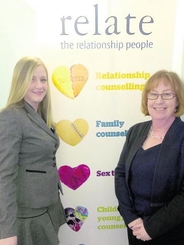 This Is Wiltshire: Kimberley Wall, the service development manager and Ellaine Cameron, the manager, at the Relate Centre in Old Town