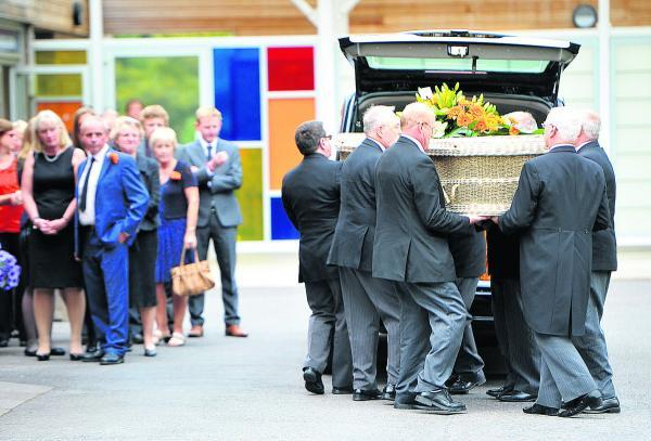 This Is Wiltshire: The funeral of Richard Floyd
