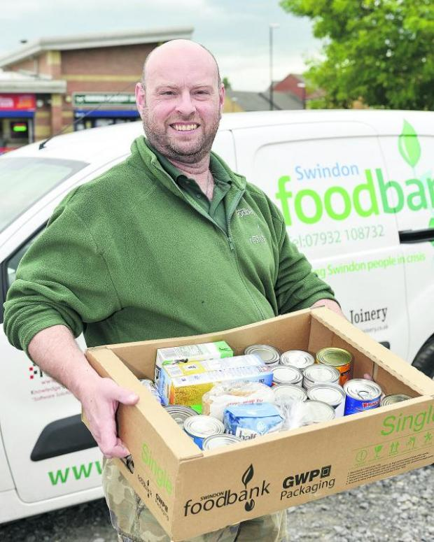 This Is Wiltshire: Andrew Hill, project manager of Swindon Foodbank