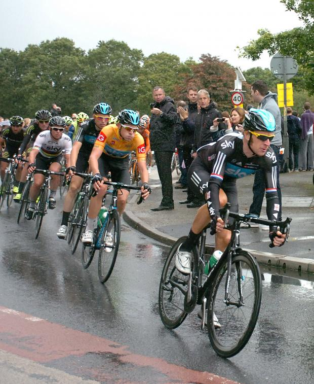 This Is Wiltshire: Sir Bradley Wiggins in a previous Tour of Britain