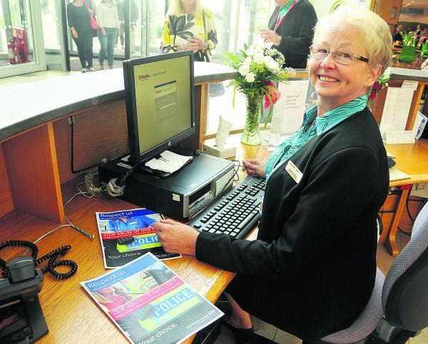 This Is Wiltshire: GWH receptionist Maureen Bristow, who has had to deal with abuse from patients