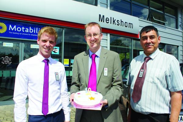 This Is Wiltshire: Sales executive Andy Turner, brand manager James Austen and after-sales manager Nigel Carter