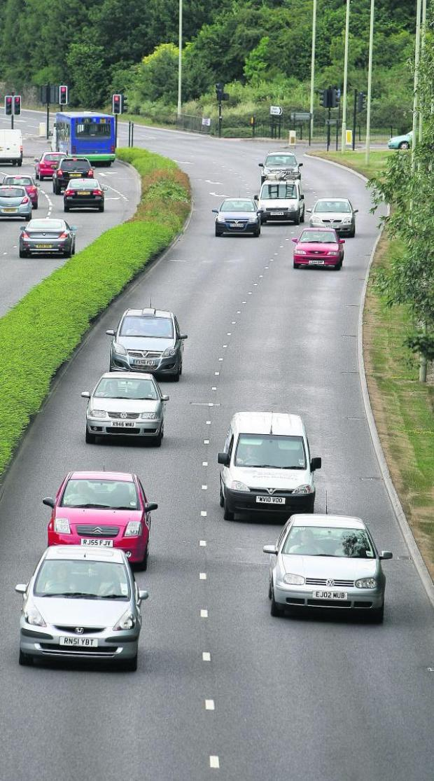 This Is Wiltshire: Thamesdown Drive in north Swindon – there have been 48 crashes there in the last three years