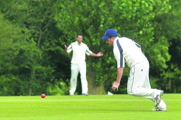 This Is Wiltshire: Adam Woolford puts down a chance against Great Bedwyn