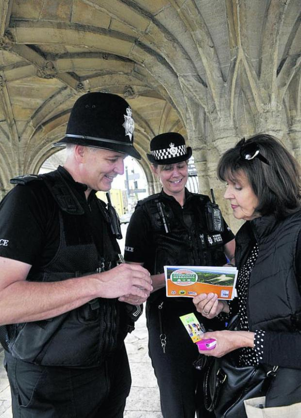 This Is Wiltshire: Sarah Heasman finds out more about the initiative from Sgt Martin Alvis and PC Rachel Webb in Malmesbury