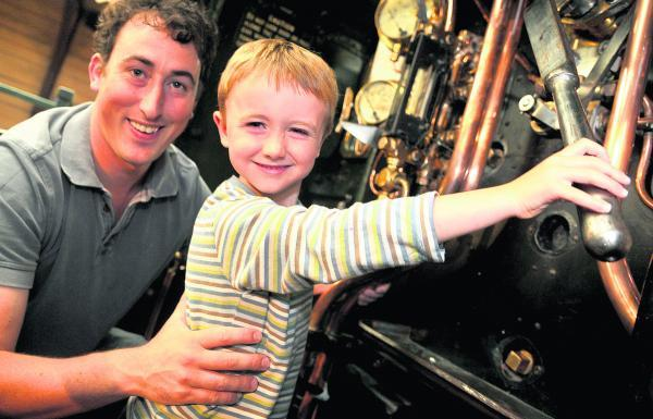 This Is Wiltshire: David Moore and James visit the  Railway At War exhibition at the Steam Museum