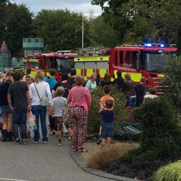 This Is Wiltshire: Wiltshire Fire & Rescue Service crews at Longleat this afternoon