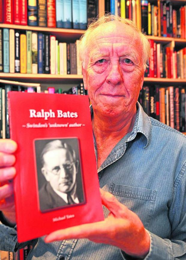 This Is Wiltshire: Michael Yates, with the book he has written on Ralph Bates
