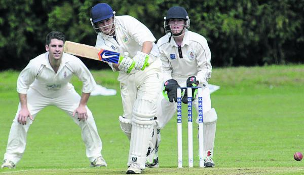 This Is Wiltshire: Trowbridge's Tom Oakley bats against Marshfield last weekend