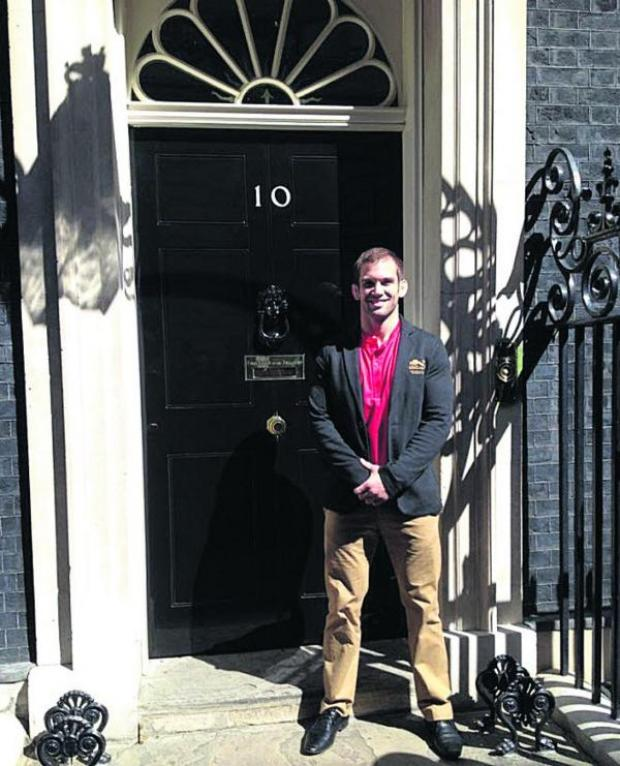 This Is Wiltshire: Tom Reed, outside Number 10 Downing Street this week