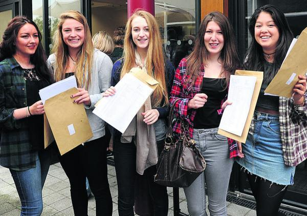 This Is Wiltshire: High achievers at St Augustine's RC College today. Picture by Trevor Porter