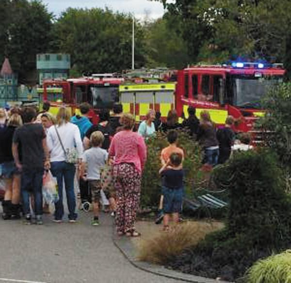 This Is Wiltshire: Onlookers at the scene of the accident at Longleat