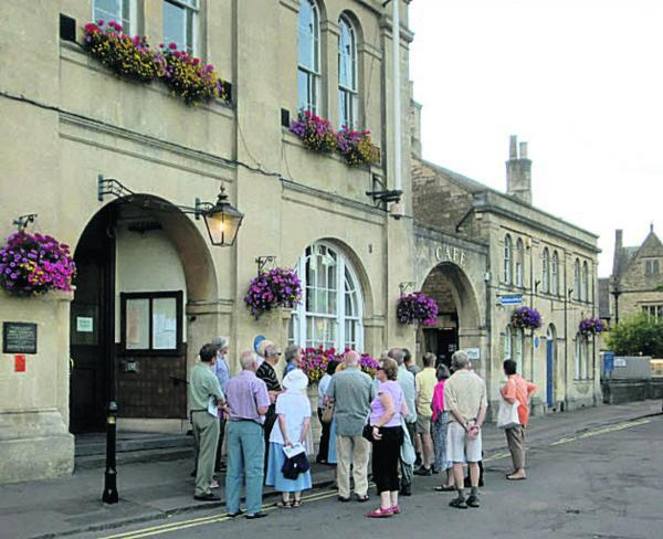 This Is Wiltshire: istorial Association members outside Melksham Town Hall