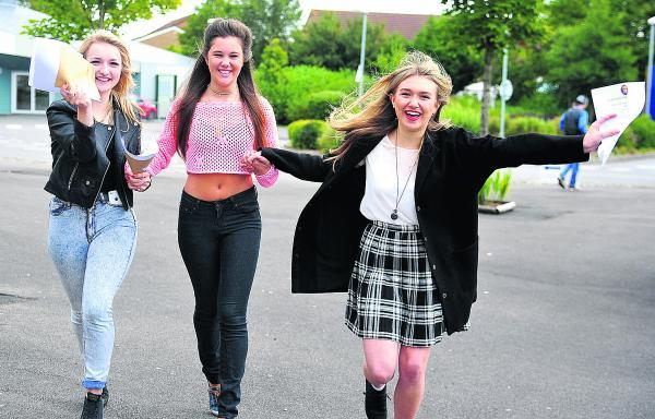This Is Wiltshire: Celebrate good times... Becky Bissex, Meghann Newcombe and Ellie James