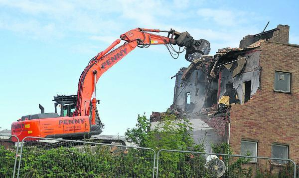 This Is Wiltshire: The former Zarlink site in Cheney Manor is being pulled down