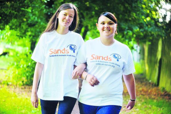This Is Wiltshire: Cathy Milburn and Rebecca Porter, of the charity Sands, who  are planning a walk to raise funds for a bereavement suite at GWH
