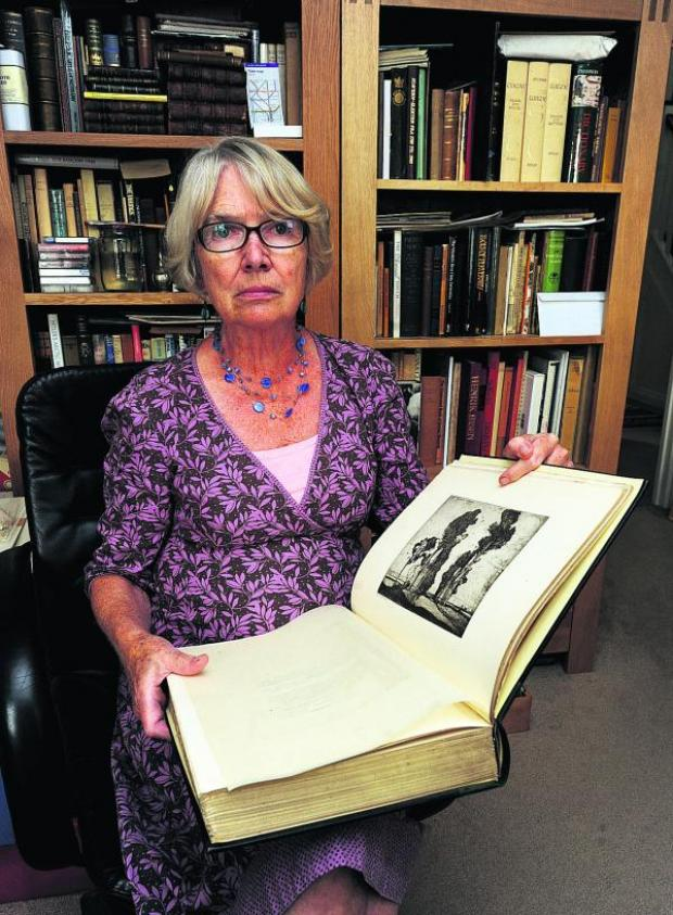 This Is Wiltshire: Nora Assinder had rare books stolen while unpacking her car after a holiday 			      (PM1432) By Paul Morris