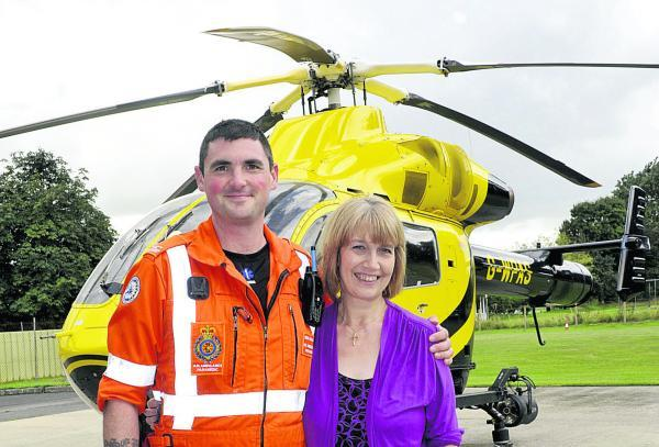 This Is Wiltshire: Air ambulance paramedic Ross Culligan and Sherston resident Ann Neal
