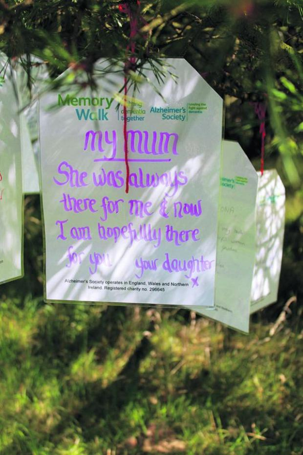 This Is Wiltshire: A moving message placed at last year's walk