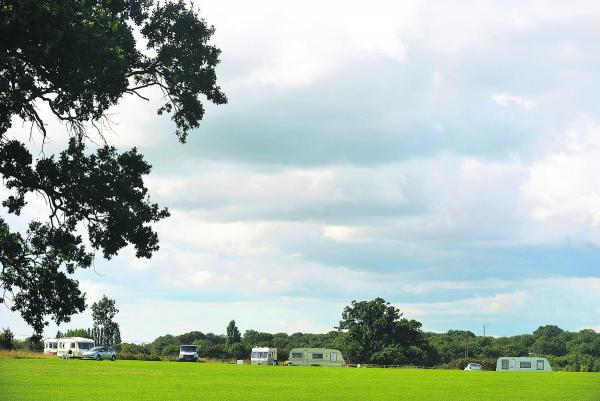 This Is Wiltshire: Travellers said they had set up camp at Lydiard Park to visit a family funeral