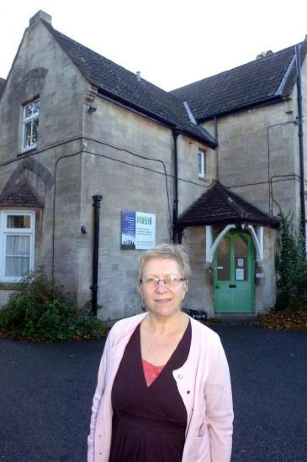This Is Wiltshire: Philippa Read, chief executive of Community First, outside Wyndhams, which will can be visited on Devizes Heritage Open Day