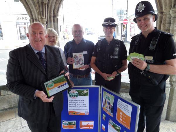 This Is Wiltshire: Police and Crime Commissioner Angus Macpherson at a Community Messaging launch event in Malmesbury