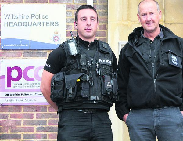 This Is Wiltshire: PC Kevin Harmsworth, who led the day of action in Trowbridgg, with