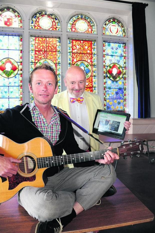 This Is Wiltshire: Singer Leander Morales with Ian Cunningham, chairman of the Westbury Arts and Music Festival