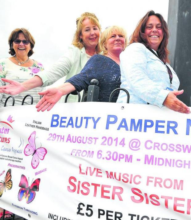 This Is Wiltshire: From left, Ros Burden, Trish Toner, Bev Neal and Lesley Bayliss who are organising a pamper evening in aid of GWH's brighter futures breast cancer appeal