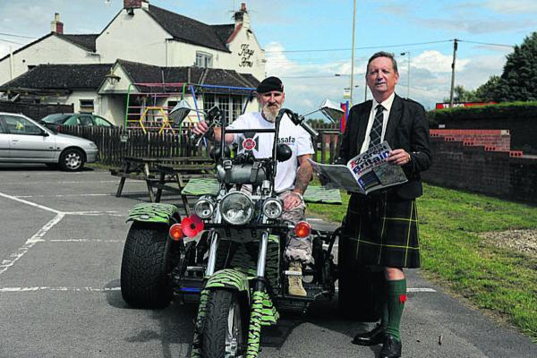 This Is Wiltshire: Steve Stone with his trike and Bill Common, secretary of SSAFA