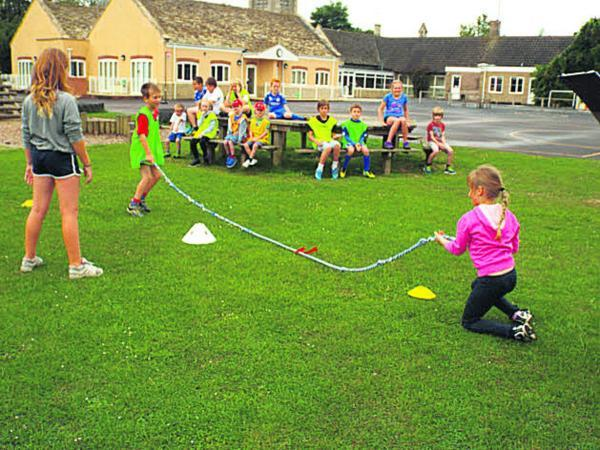 This Is Wiltshire: Youngsters had fully supervised indoor and outdoor fun
