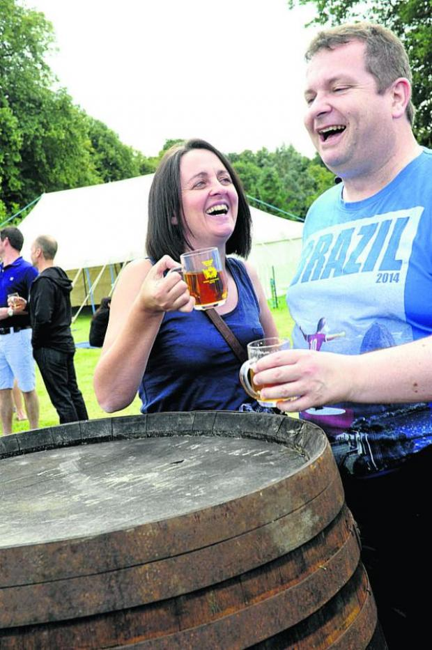 This Is Wiltshire: Linda Ashman and Steve Walker share a laugh