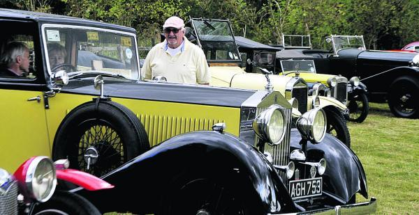 This Is Wiltshire: Neil Miller with a 1933 Rolls-Royce