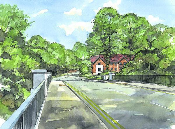 This Is Wiltshire: An artist's impression of the retirement flats in Marlborough