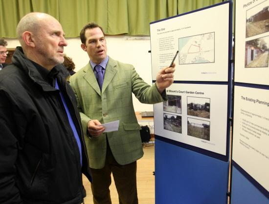 This Is Wiltshire: A consultation meeting about the planned homes on the former Blounts Court Nursery site at Studley