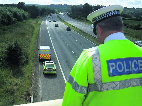 This Is Wiltshire: Police patrols will be stepped up along the M4 in the wake of the NATO conference in Newport