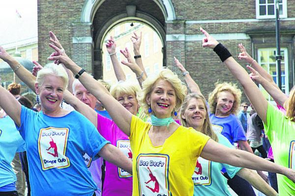 This Is Wiltshire: Dee Dee Wilde, in the yellow top, leads a dance class