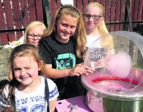This Is Wiltshire: From left, Grace Harrey, Annabella Downing, Phoebe Madison and Reanna Nolan at Southbrook fete. Picture: Vicky Scipio