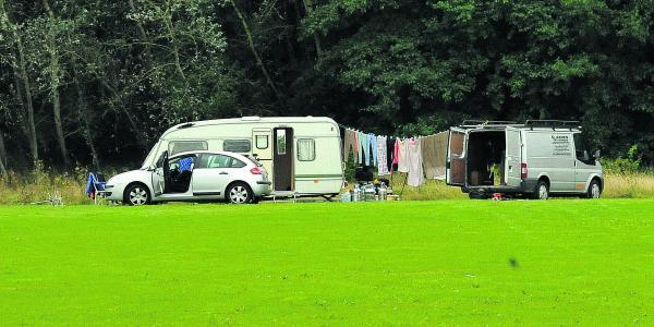 This Is Wiltshire: The travellers who camped at Lydiard Park last week