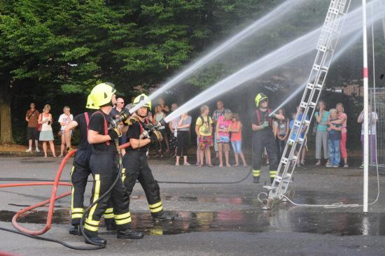 This Is Wiltshire: Westbury firefighters at an event last year