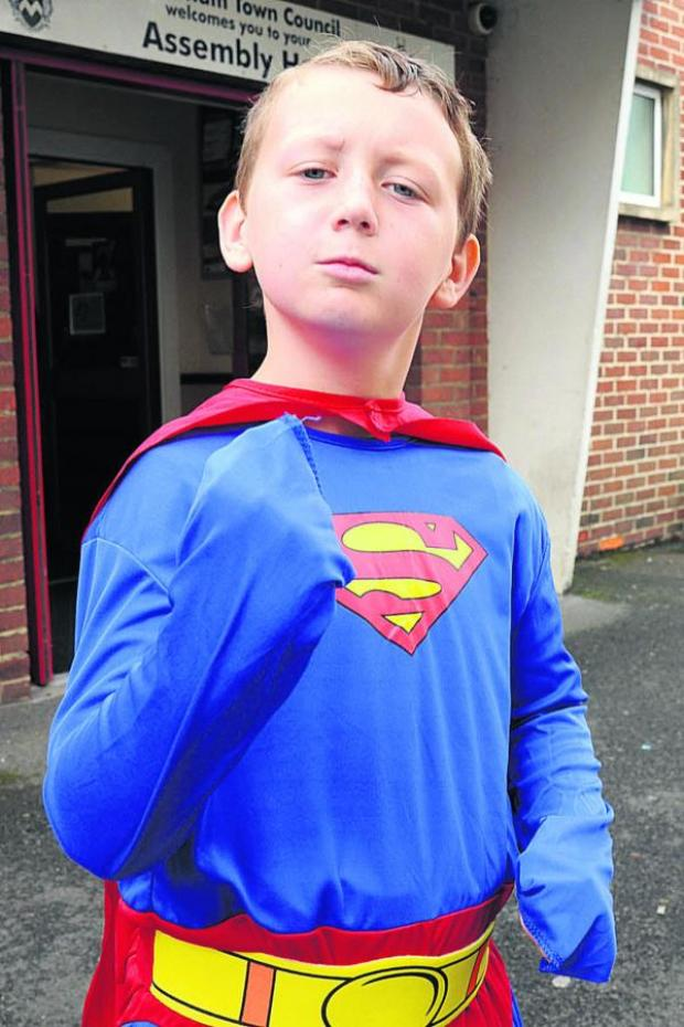 This Is Wiltshire: Keiran MacMillan as Superman at Melksham Comic Con. Picture by Trevor Porter