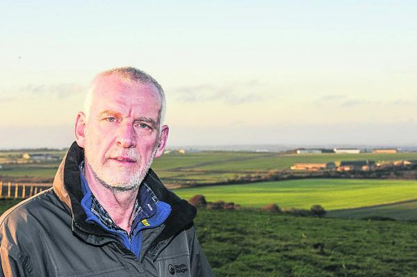 This Is Wiltshire: Steve Harcourt, who is in favour of the solar farm plans for Wroughton Airfield
