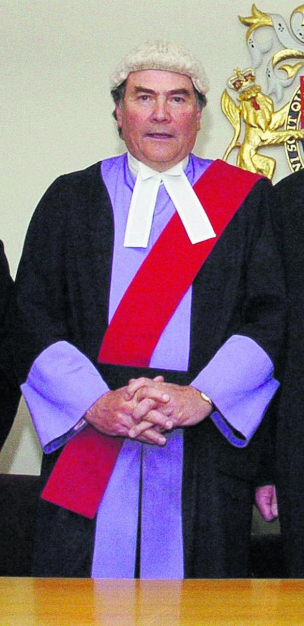 This Is Wiltshire: Judge Douglas Field, who is leaving Swindon Crown Court as resident judge after almost eight years