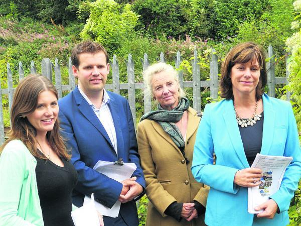 This Is Wiltshire: Michelle Donelan, Ben Howlett, Professor Christina Slade and Devizes MP Claire Perry at Corsham