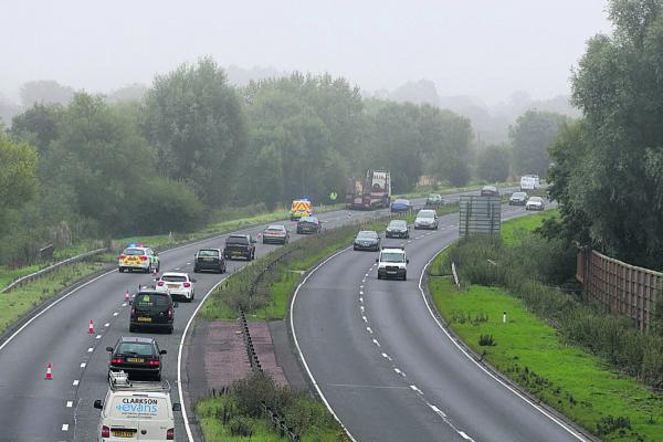 This Is Wiltshire: Traffic builds up on the A149 following two incidents