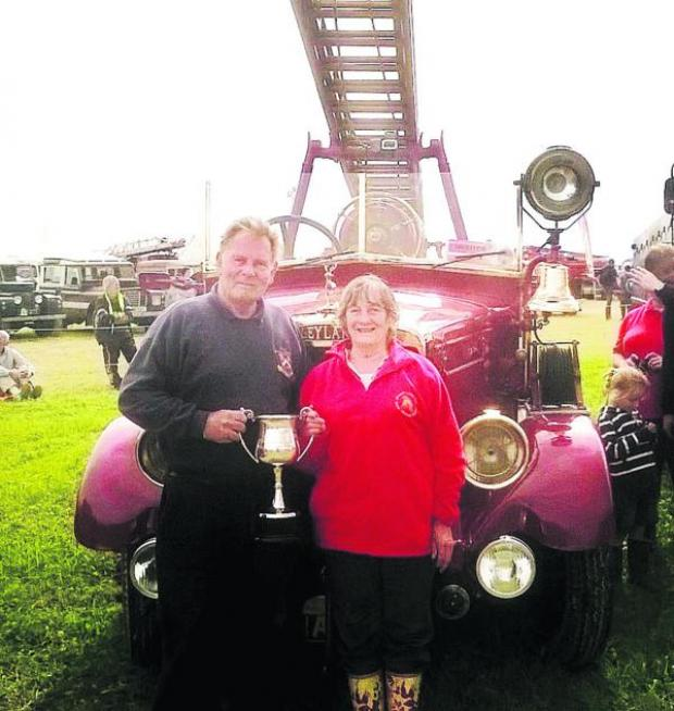 This Is Wiltshire: A red-hot winner for Chris and Audrey Wannell with their engine