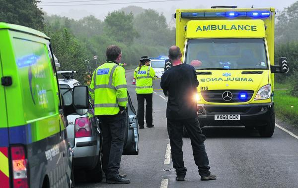 This Is Wiltshire: The motorcycle accident on the B4019
