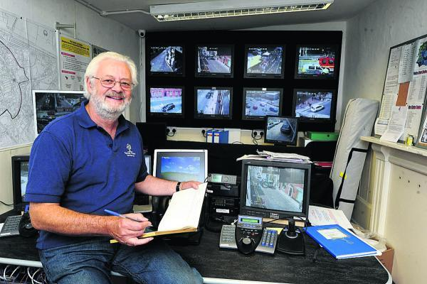 This Is Wiltshire: CCTV system manager Noel Woolrych is confused by the council's demand